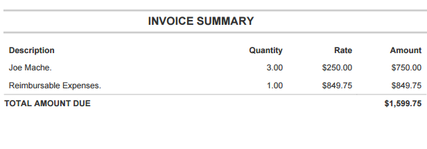 creating time materials invoices